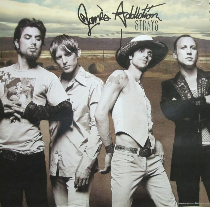 JANES ADDICTION 2003 STRAYS promotional promotional poster Nice New Old Stock
