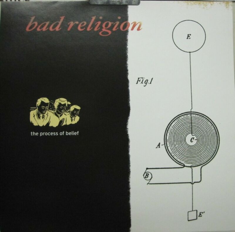 Bad Religion 2002 The Process Of Belief promo poster/flat Flawless New Old Stock