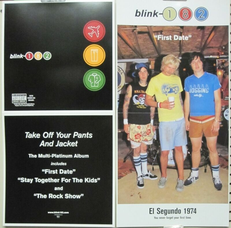 Blink-182 2002 Take Off Your P&J 2 sided promo poster Flawless New Old Stock