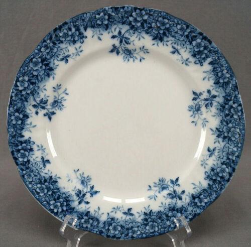 Booths Canterbury Pattern Flow Blue Semi Porcelain Dinner Plate C. 1891 - 1906 B