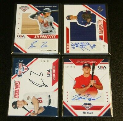 2020 Panini USA Baseball Stars and Stripes Silhouettes Auto Single | You Pick