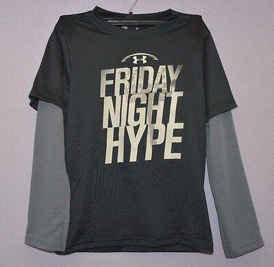 Under Armour Kid Boy Long sleeve Shirt Black Friday Night Hype Size 4 NWOT
