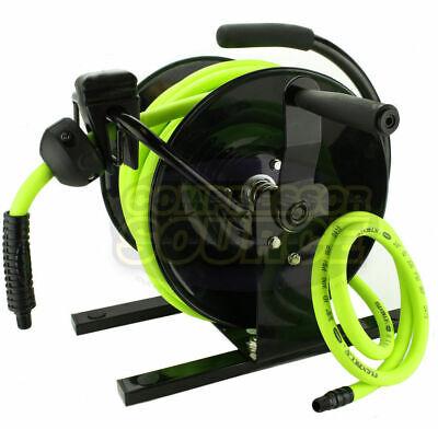 Flexzilla 38 X 50 Hand Crank Air Hose Reel 300 Psi Portable L8651fz W Hose