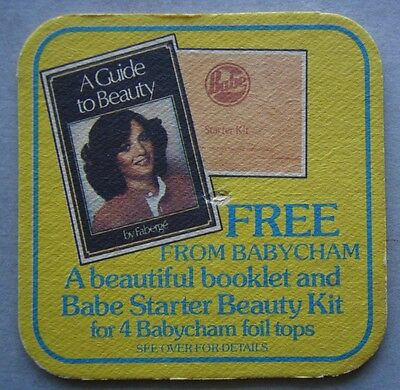 Babycham Babe Starter Beauty Kit for 4 Babycham foil tops Coaster (B262)](Super Beautiful Babes)