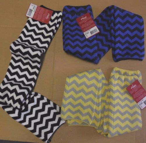 "Capezio Ntiger 24"" ladies legwarmers 3 colors of Chevron acrylic spandex NWT"