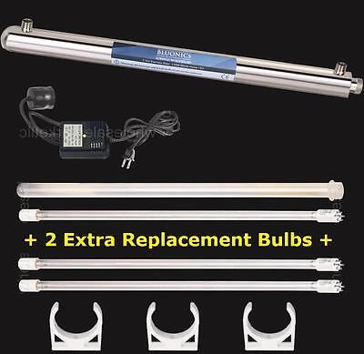 Bluonics Ultraviolet Light Water Purifier Whole House UV Sterilizer +Extra Bulbs