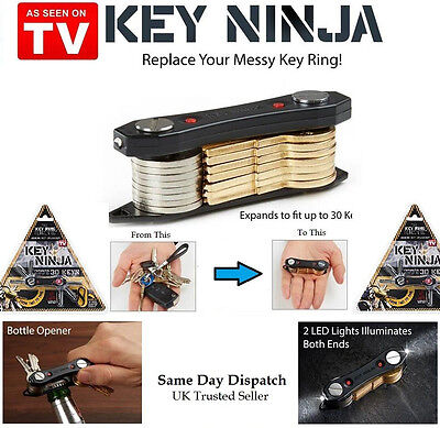 Key Ninja Smart Holder Compact Chain Organizer LED Light Torch Bottle Opener