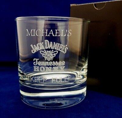 PERSONALISED JACK DANIELS TENNESSEE HONEY GLASS JACK DANIELS WHISKY GLASS for sale  Nottingham