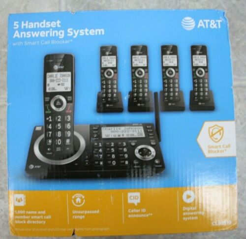 NEW AT&T CL83519 Answering System Smart Call Block Cordless Phone 5 Handsets