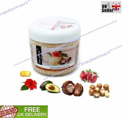 Macadamia Nuez Aceite Cara y Cuerpo Con Manteca Bio Glow De Cacao...