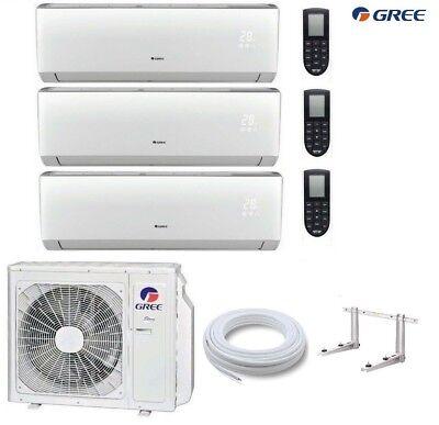 GREE Lomo MultiSplit 3 Räum 3 x 3,5 kW Klimaanlage Inverter Wärmepumpe