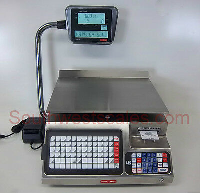 Torrey LSQ-40L, 40 x .01 lb Price Computing Deli Scale w/Label Printer Stainless