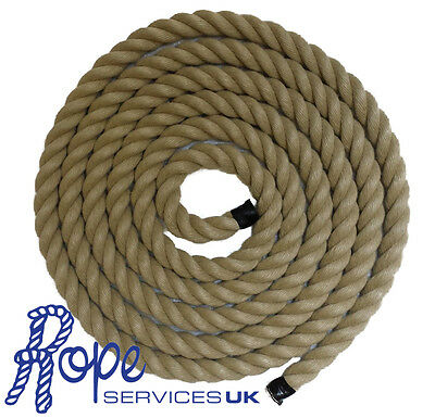 Rope - Synthetic Hemp, Polyhemp, Hempex For Decking, Garden & Boating (6mm-36mm)