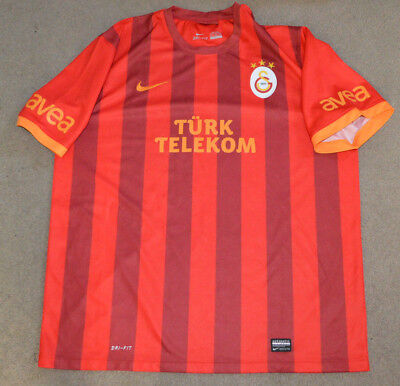 Galatasaray AS Nike Dri Fit Authentic Soccer Football Jersey 2XL Turkey for sale  Shipping to Canada
