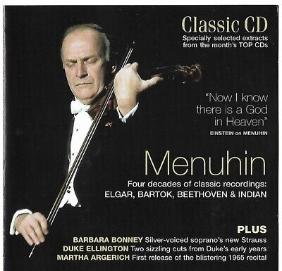 Classic CD Issue 111 - Tribute to Menuhin - CD only