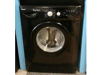 a571 black beko 6kg 1400spin A+A rated washing machine comes with warranty can be delivered