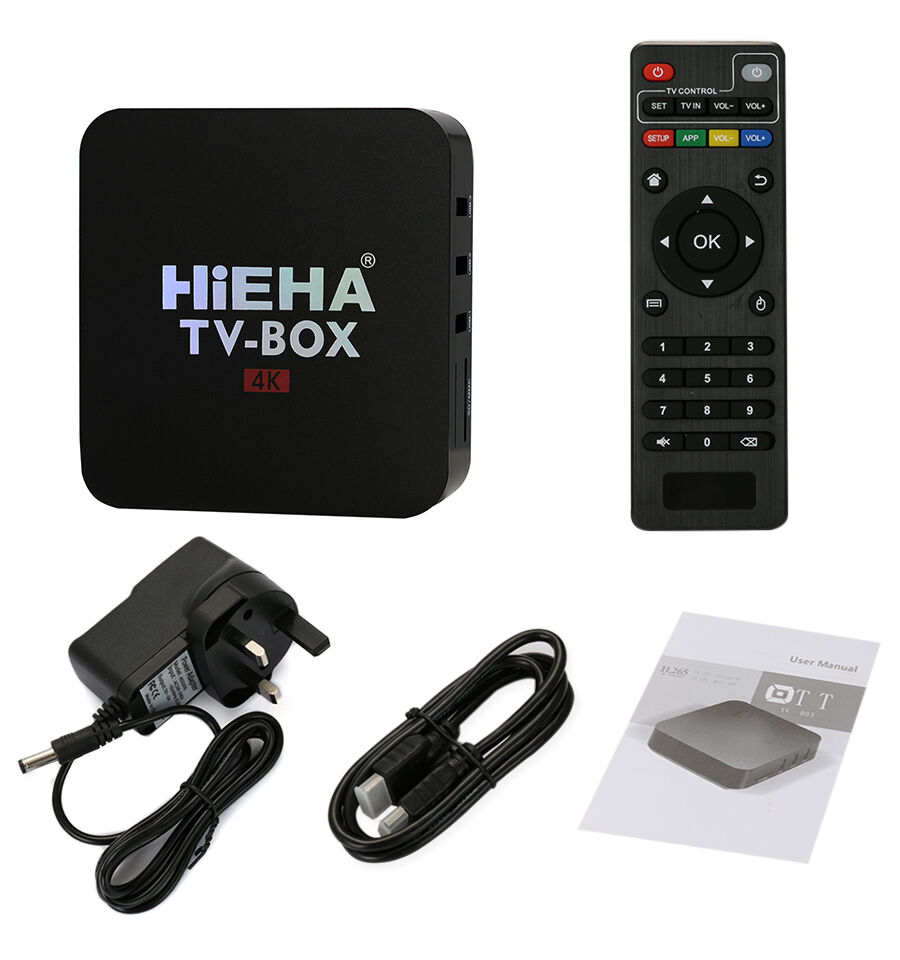 hieha 4k smart tv box internet tv quad core android 6 0 hd media player 1080p uk. Black Bedroom Furniture Sets. Home Design Ideas