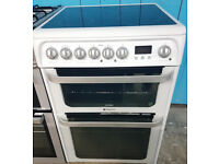 c503 white hotpoint ultima 60cm electric cooker comes with warranty can be delivered or collected