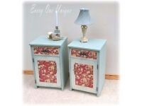stunning and quality made shabby chic and totally unique bedside units