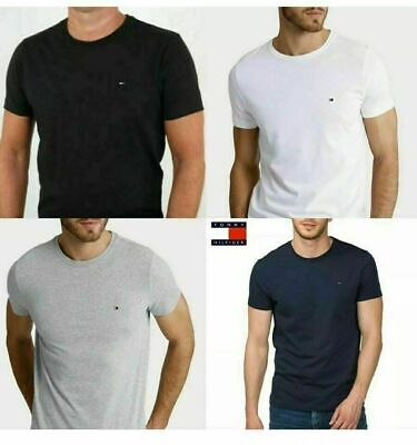 Tommy Hilfiger Mens t Shirt Crew Neck Short Sleeve 100% Cotton Regular Fit