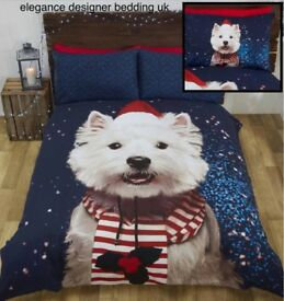 westie bedding set
