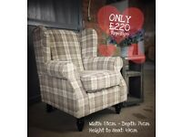 NEW Wingback Accent Chair, Can Deliver