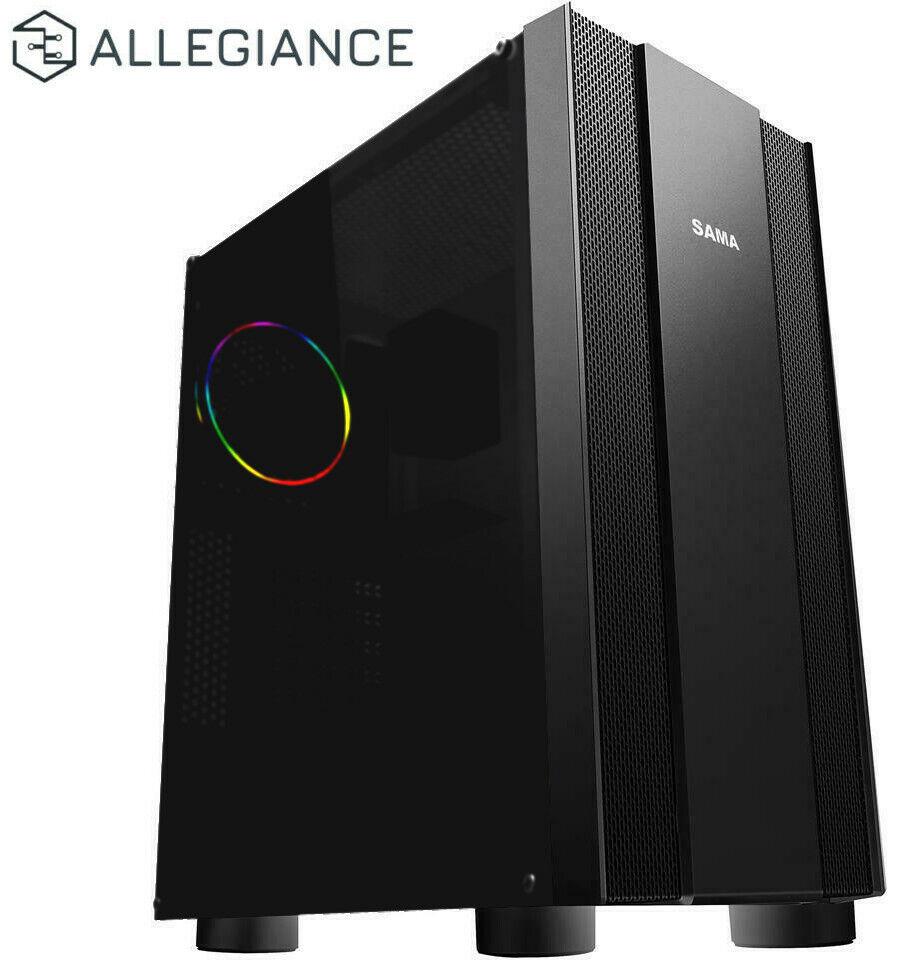 ALLEGIANCE Intel 8-Core CPU, 64GB RAM, 480GB SSD Video Editing Gaming Desktop PC