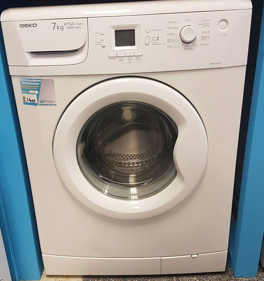 H679 white beko 7kg A*AA 1600spin washing machine comes with warranty can be delivered or collected