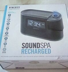 HoMedics Sound Spa FM Clock Radio 8 Sound Machine & Time Projection SS-5080
