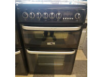 a492 black cannon 60cm ceramic hob electric cooker comes with warranty can be delivered or collected