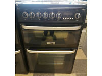 a492 black cannon 60cm ceramic hob double oven electric cooker comes with warranty can be delivered