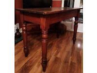 Antique Rustic Pine Kitchen Table