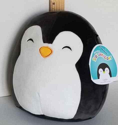 "Squishmallow 8"" Luna Penguin  🐧 Sleepy Eyes Soft Plush BNWT FREE SHIP"