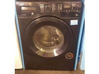 V76 black beko 7+5kg 1400spin washer dryer comes with warranty can be delivered or collected