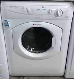 F374 white hotpoint 6kg vented sensor dryer comes with warranty can be delivered or collected
