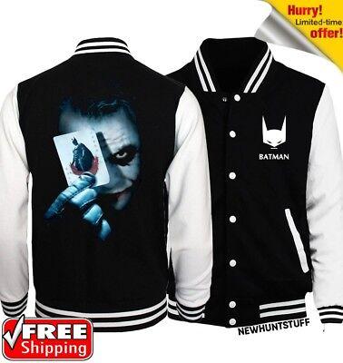 The Joker With Batman Card New fashion sweatshirt novelty baseball jacket Autumn