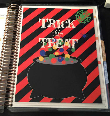 *Fall Halloween Trick or Treat*  2sided DASHBOARD for use w/ ErinCondren - Halloween Treats For Office