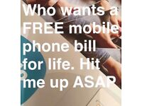 Get your phone bill FREE by referring 5 friends