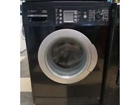 457 black bosch 7kg 1200spin washing machine comes with warranty can be delivered or collected
