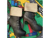 Brand New High heel boots size 6 (39)