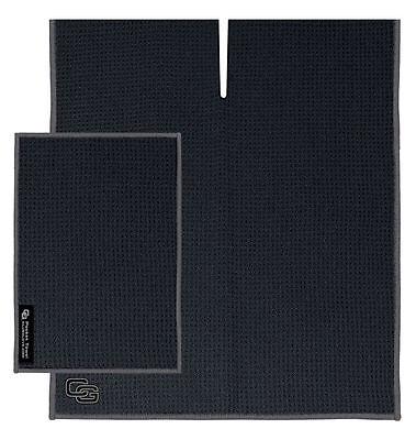"NEW Club Glove Microfiber Caddy + Pocket Towel 17"" x 40"" Black"