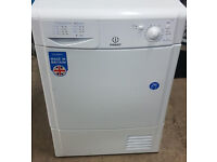 a727 white indesit 7kg condenser dryer comes with warranty can be delivered or collected
