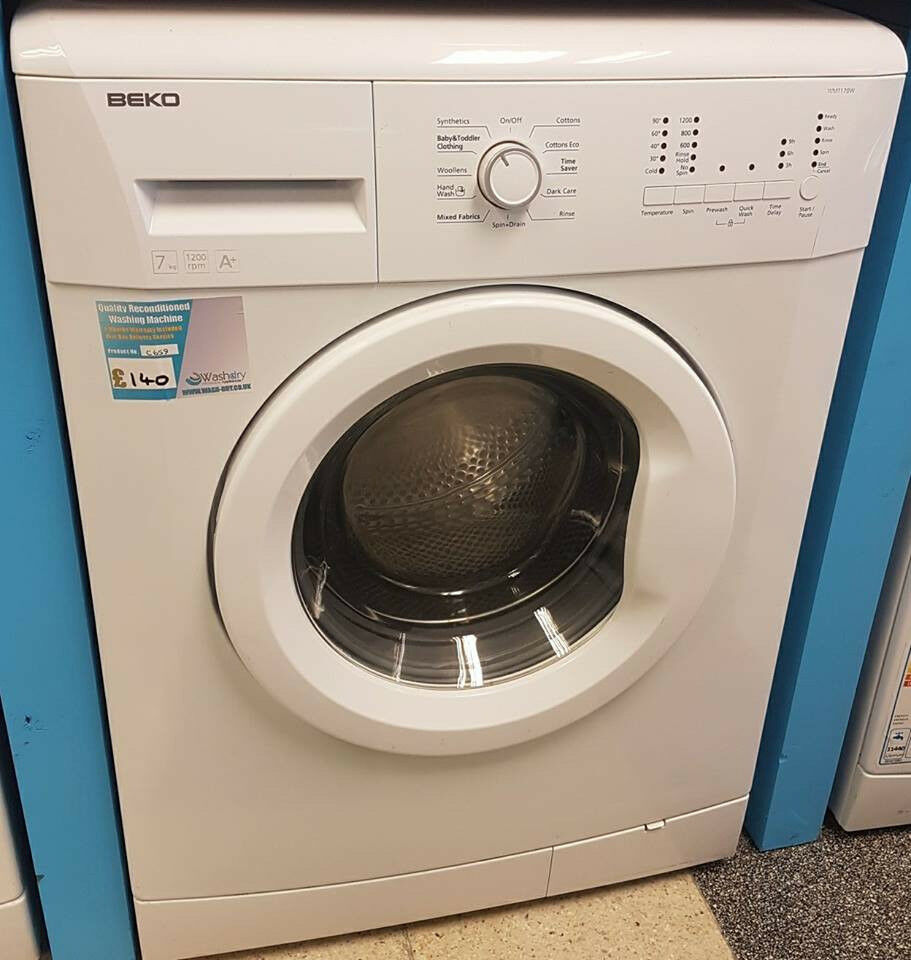 H659 white beko 7kg 1200spin A* washing machine comes with warranty can be delivered or collected