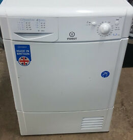 g727 white indesit 7kg condenser dryer comes with warranty can be delivered or collected