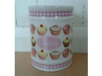 Cupcake Design Utensils Canister/ Jar
