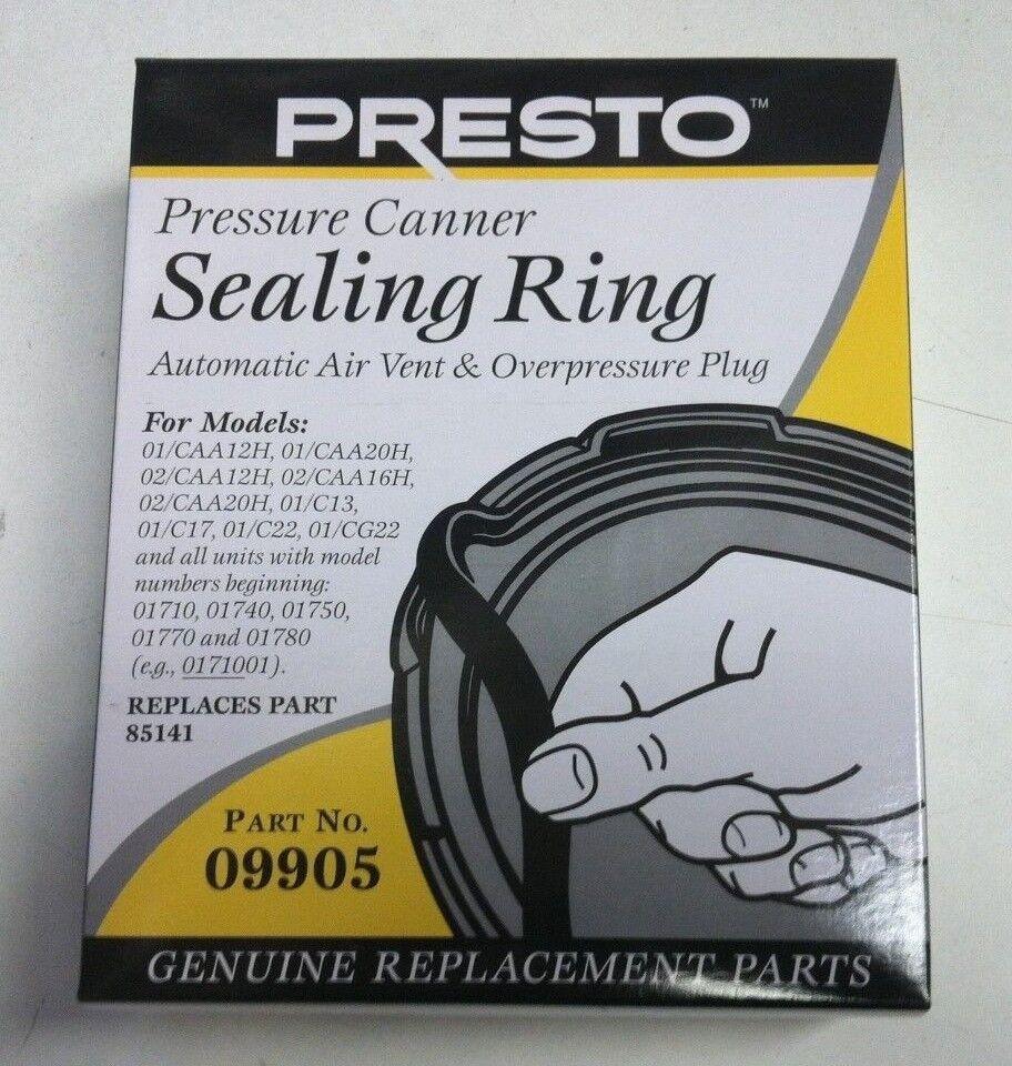 Presto 09905 9905 Pressure Cooker Sealing Ring Gasket 2 Year
