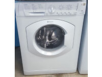l215 white hotpoint 6kg 1400spin washing machine comes with warranty can be delivered or collected