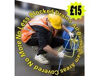 """""""£15"""" Blocked Toilet & Drains(NO MORE-NO LESS)""""ALL BIRMINGHAM""""24hrs 7day*Plumbing*Driveway Cleaning*"""
