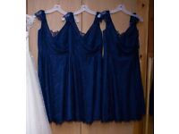 3x Jim Hjelm Bridesmaid Dresses (sizes 10/12/12) - Navy