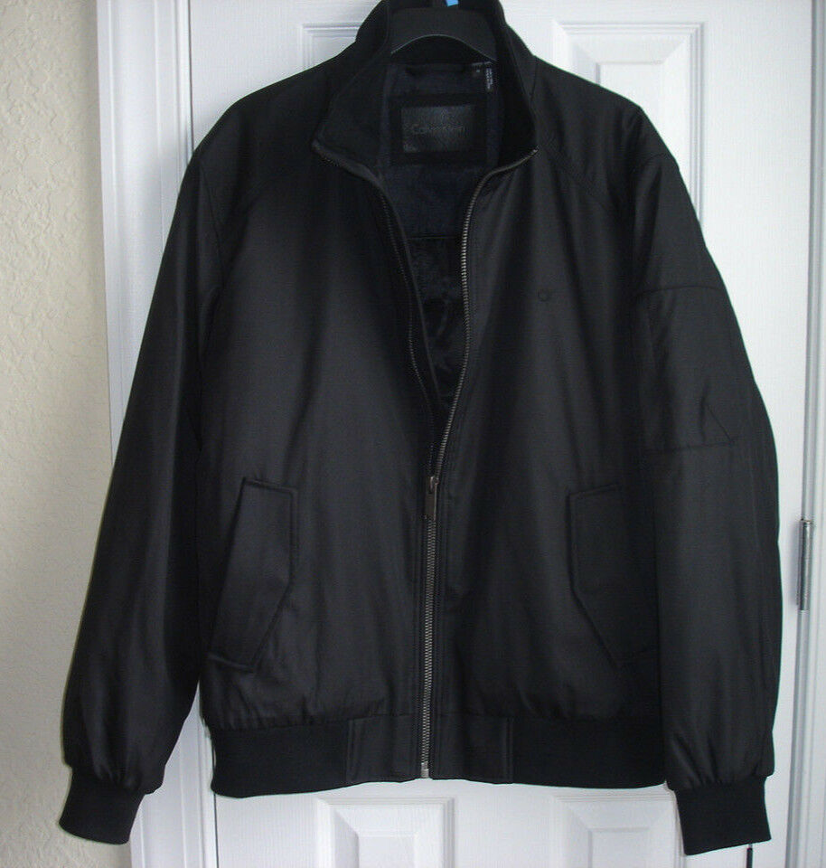 NWT Calvin Klein men's Ripstop Bomber Jacket size L black co
